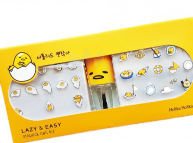 Holika Holika Gudetama Lazy & Easy Stiquick Nail Kit