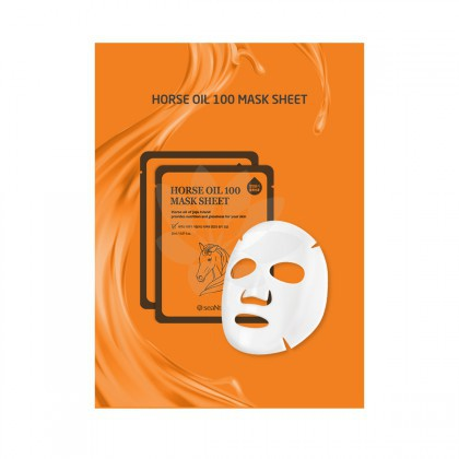 SeaNTree Horse Oil 100 Mask Sheet