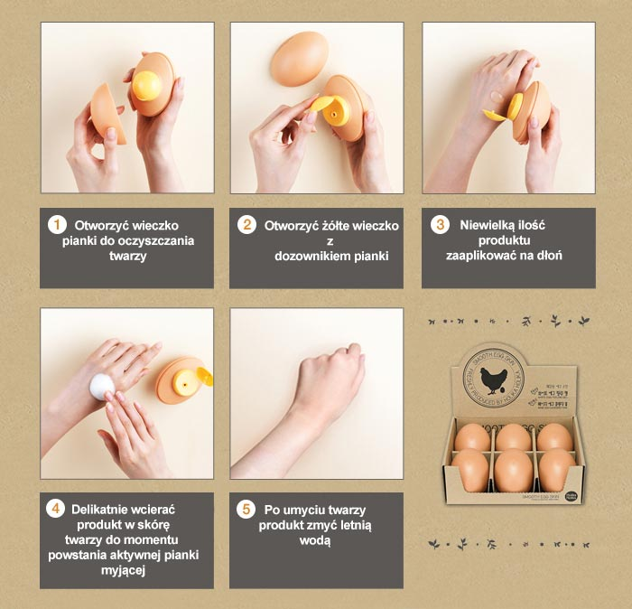 How to use Egg Cleansing Foam