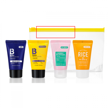 Holika Holika Biotin Travel Kit(Shampoo, Treatment, Body Wash, Cleansing Foam) 4x30ml