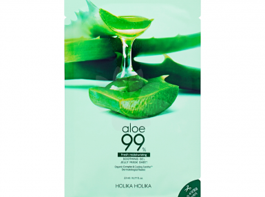 Holika Holika Aloe 99% Soothing Gel Jelly Mask Sheet (Fresh moisturizing)