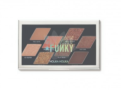 Holika Holika Chunky Funky Metal Shadow Palette, 01 Feel So Hot